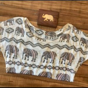 Graze boho scooped hem soft elephant top
